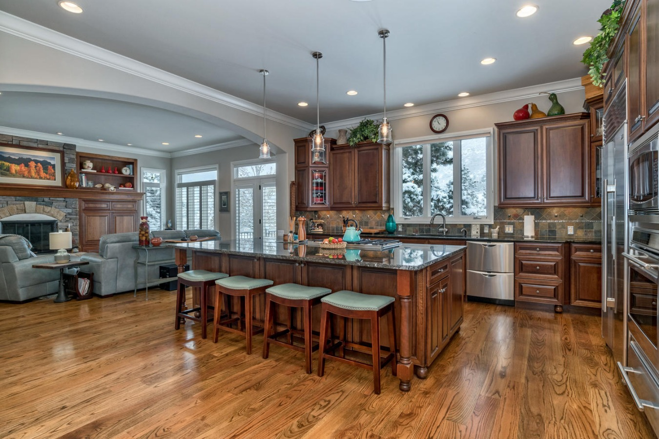 Spacious Gourmet Kitchen is the Heart of This Home