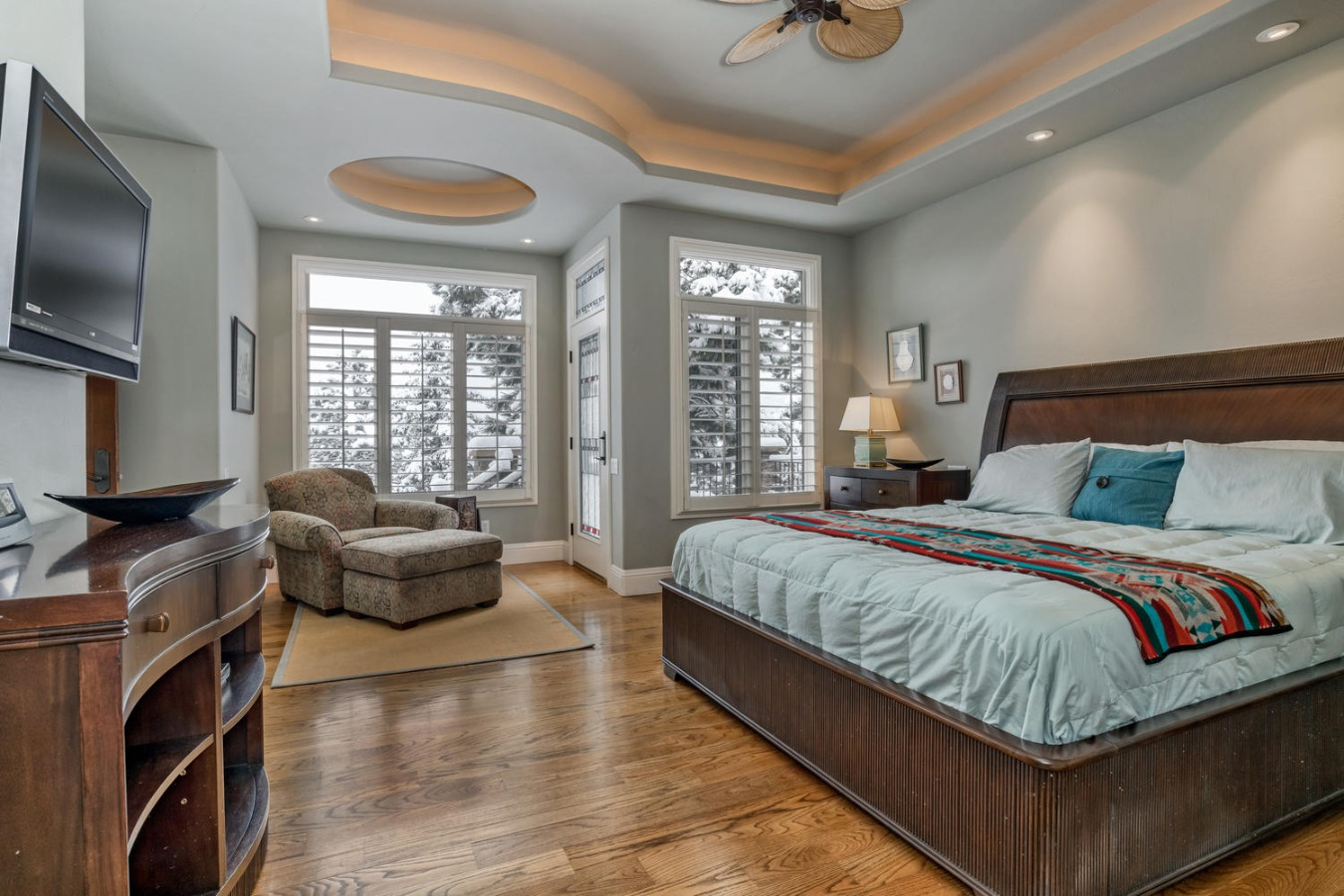 Huge Master Bedroom with Retreat & Private Deck