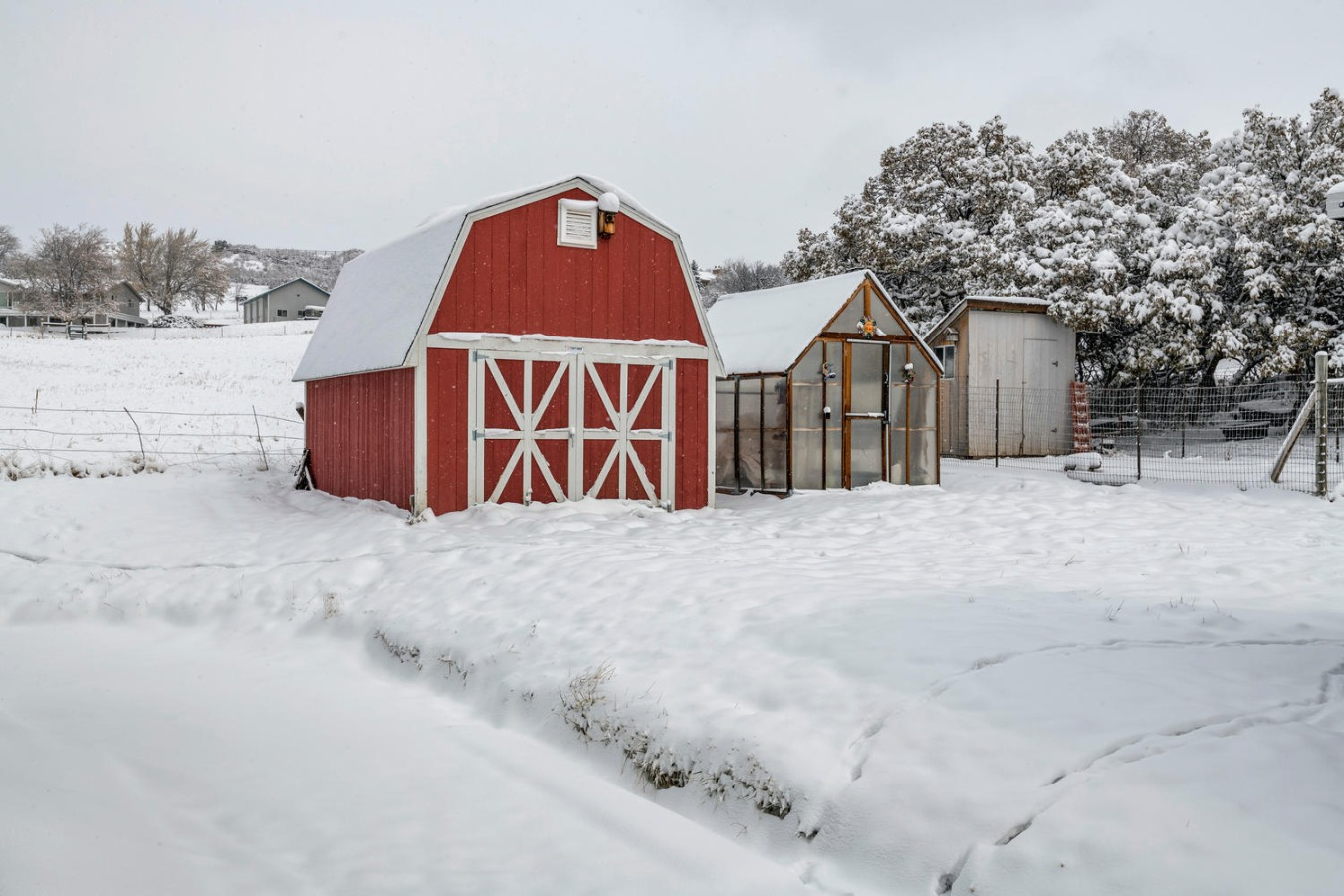 Tuff Shed + Greenhouse + Garden Shed