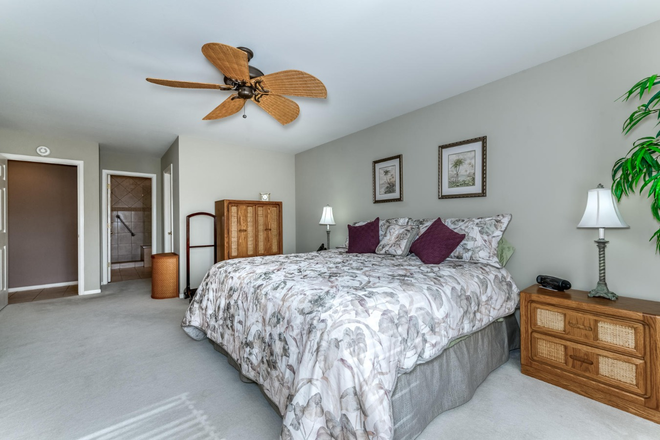 Spacious Master Bedroom to  Remodeled Master Bath