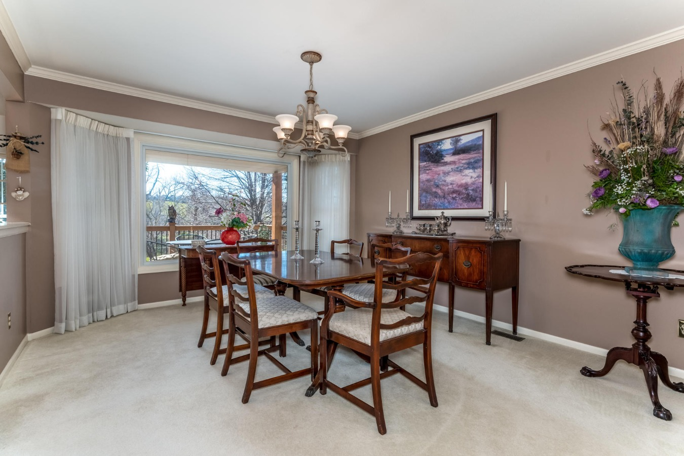 Spacious Formal Dining Room Overlooks Open Space