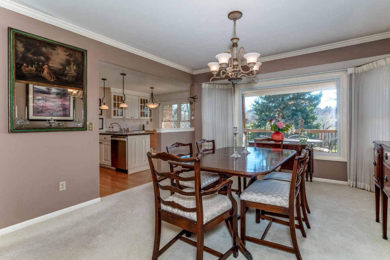 Dining Room to Remodeled Kitchen