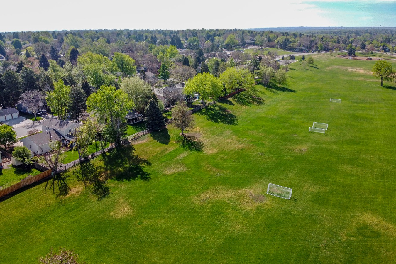 Home is at Middle Left - Park View from Drone