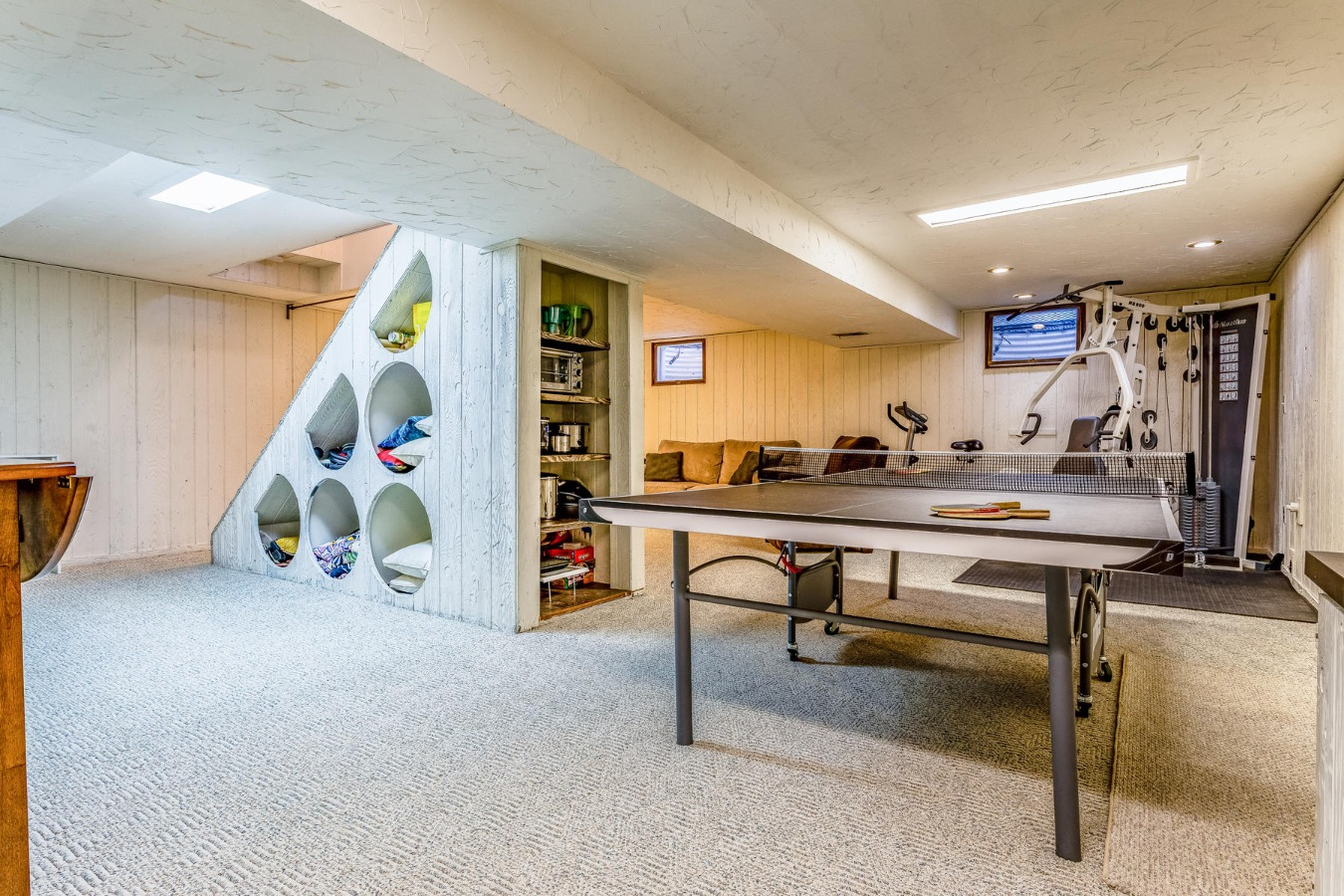 Room for Game Tables & More with Built-in Storage