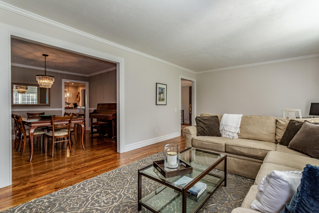 Living Room to Formal Dining Room View