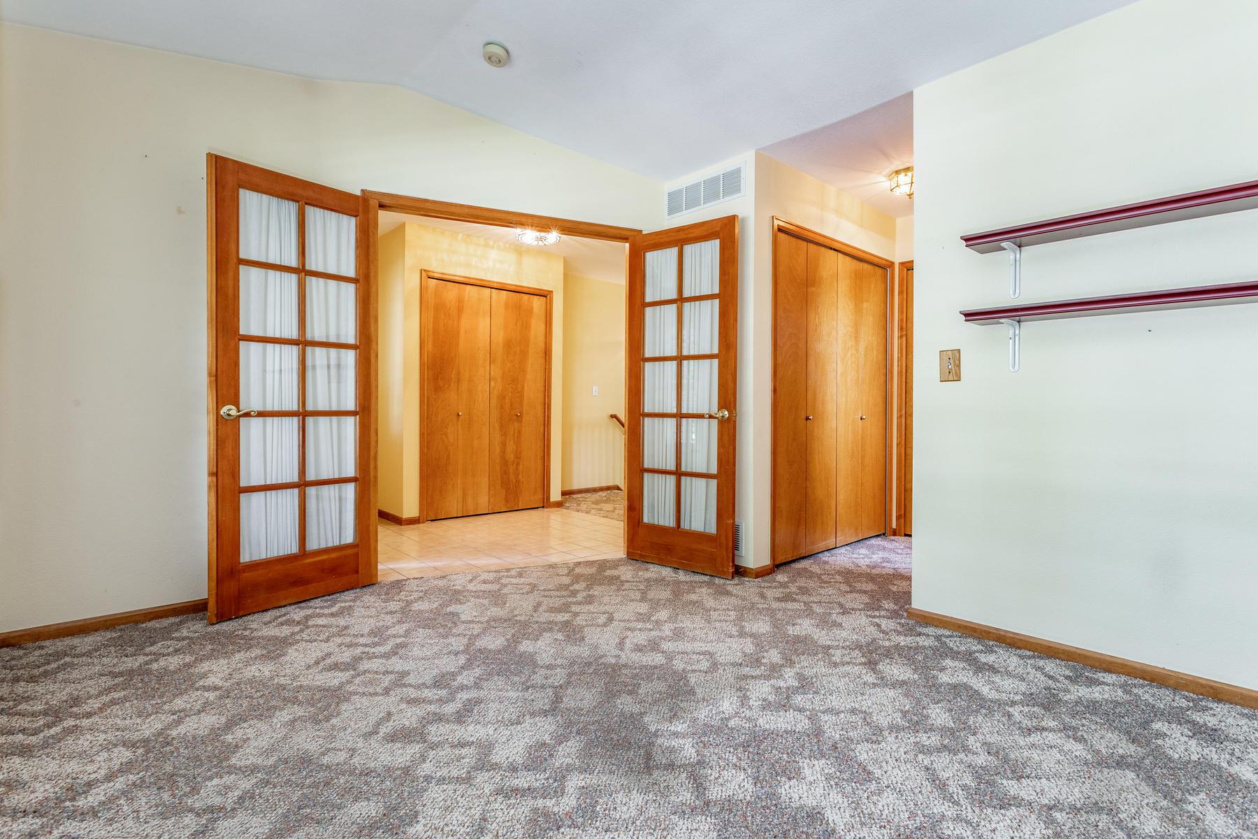French Doors on Main Floor Flex Room