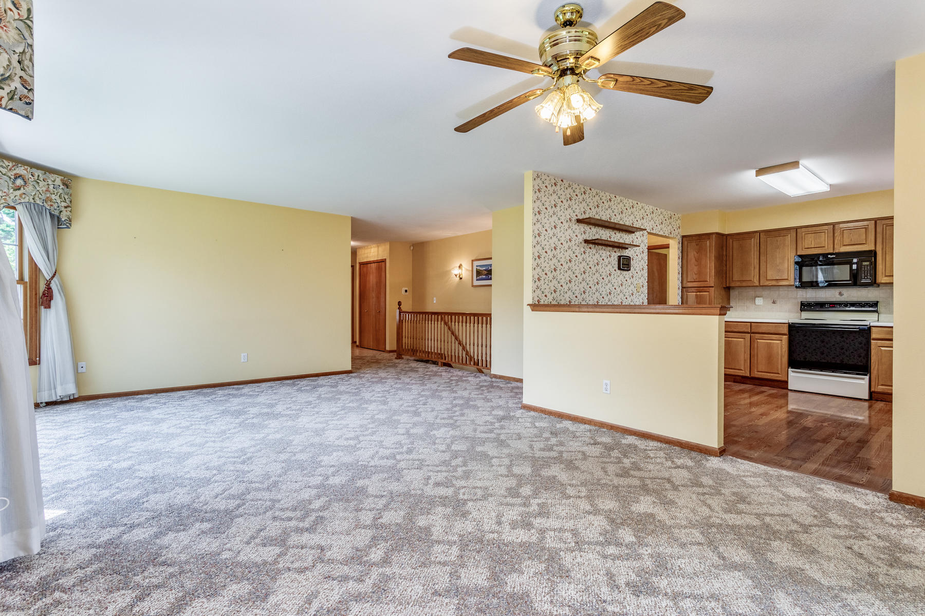 Formal Dining Area to Kitchen at Right