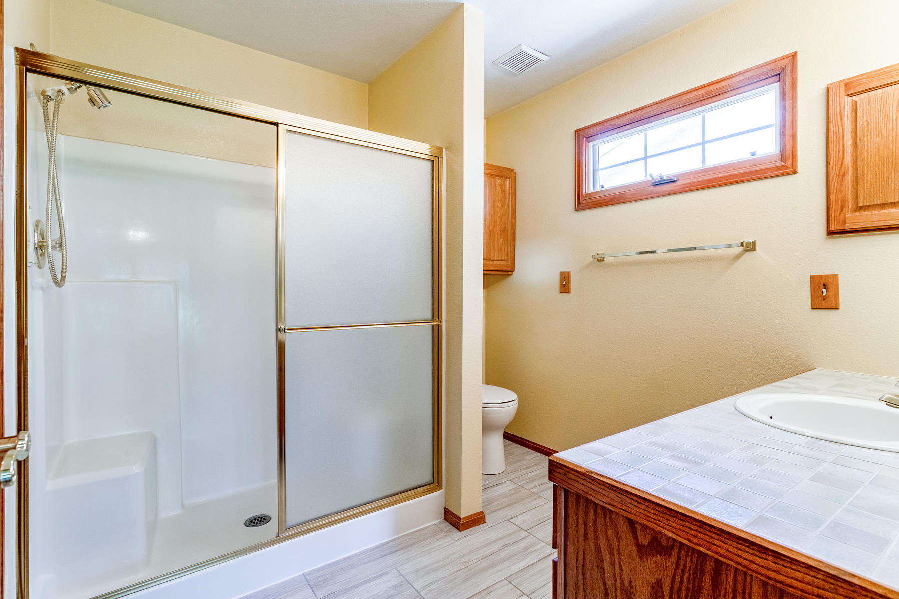 Large Walk-in Master Shower with Seating