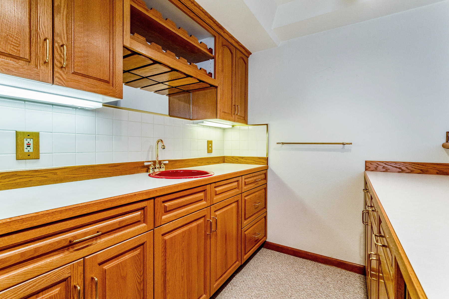 Great Storage Cabinetry in Wet Bar Area