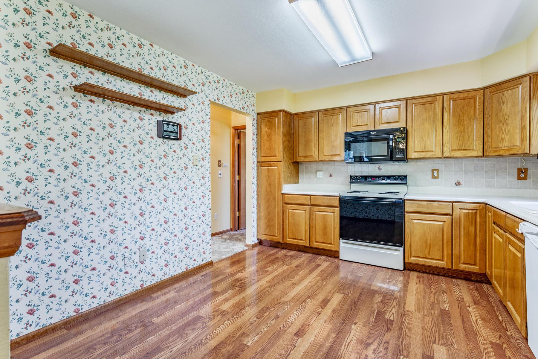 Good Sized Kitchen is Light & Bright