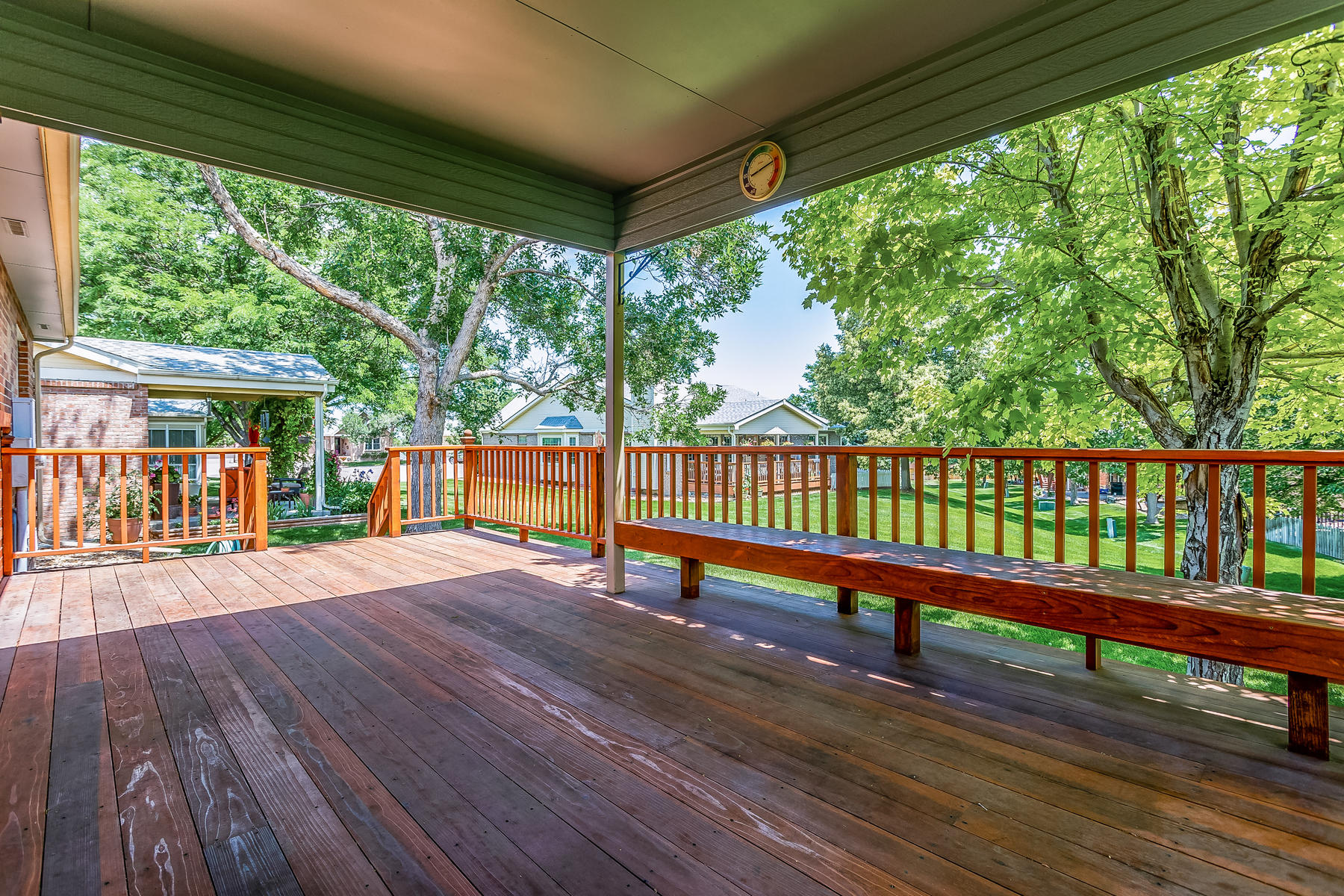 Huge Covered Patio Deck for Great Enjoyment
