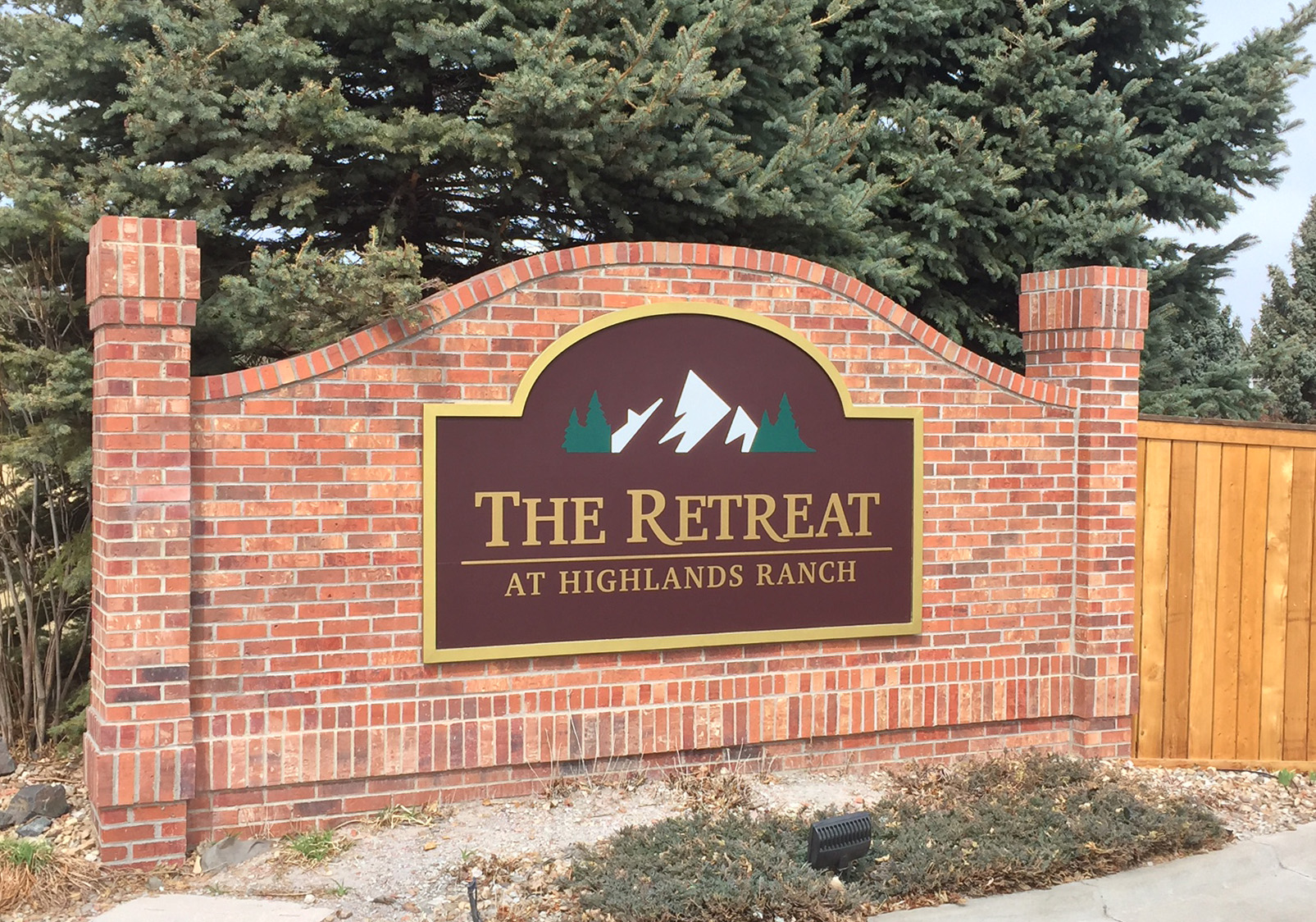 Entrance Sign for Over 55 Community - The Retreat