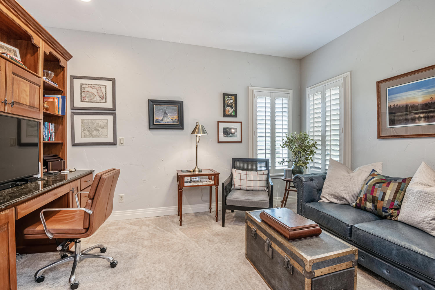 Great Office or Home School Space with Built-ins