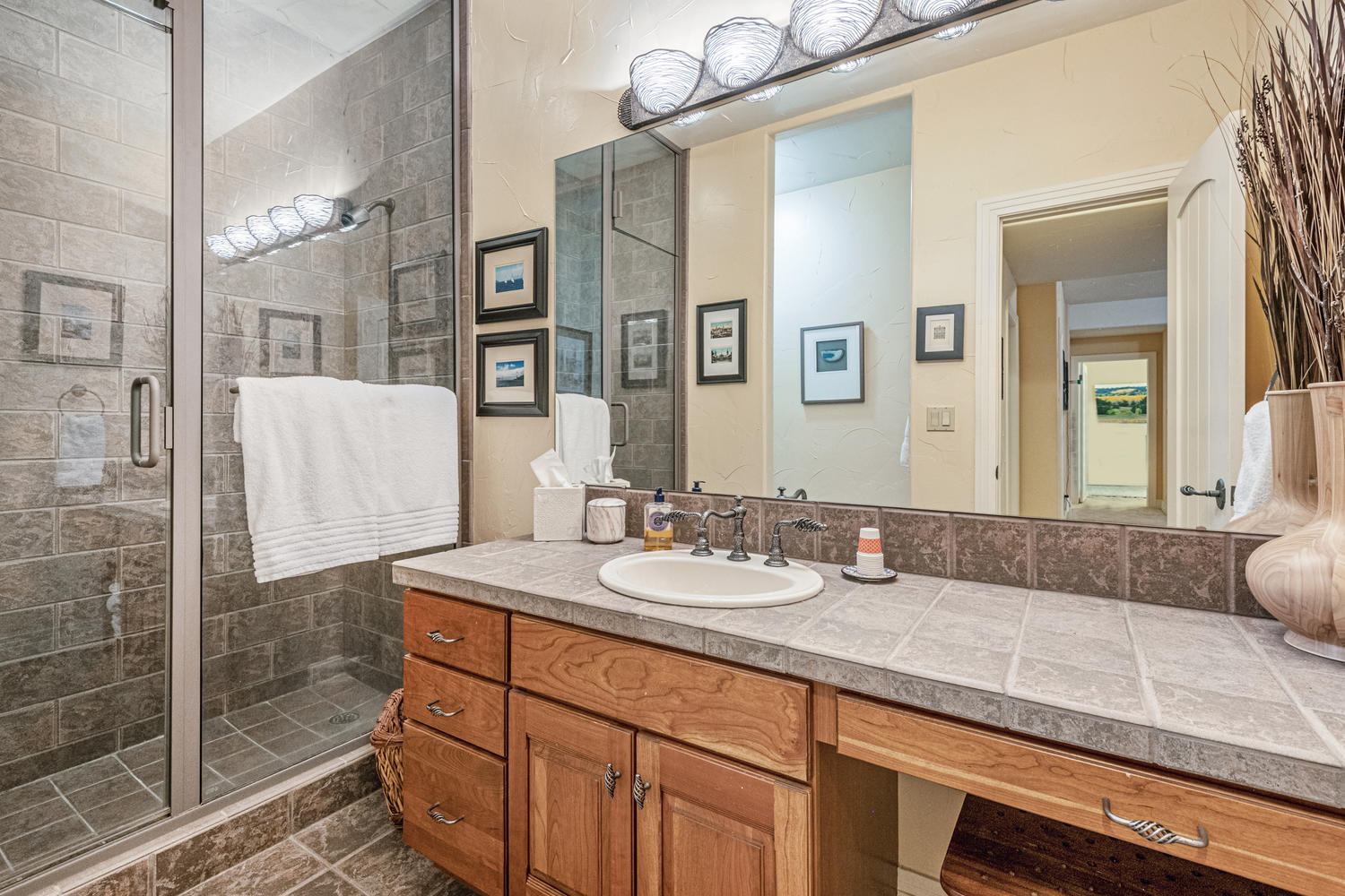 Nicely Appointed 3/4 Bath in Basement