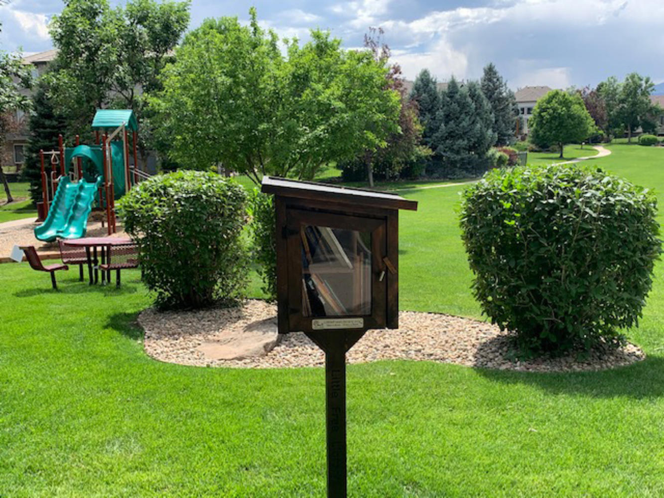 Free Little Library Exchange at Tot Lot