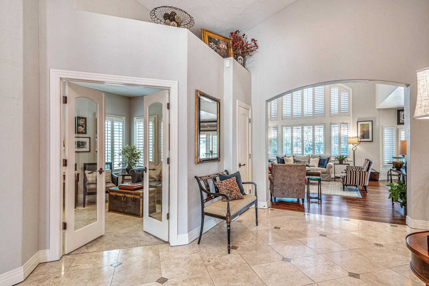 Private Study/Den with French Doors at Left