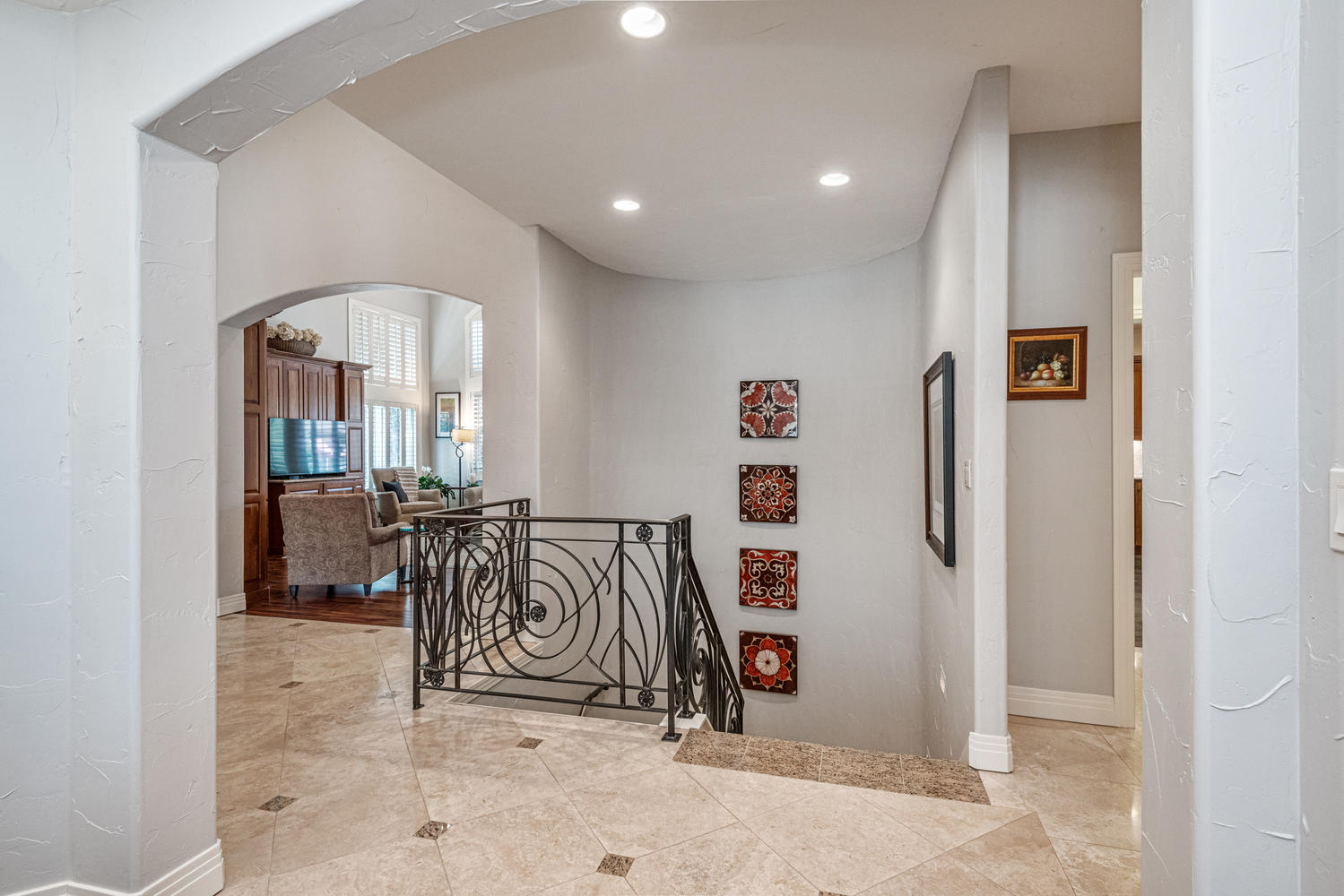 Head Downstairs to Check Out The Finished Basement