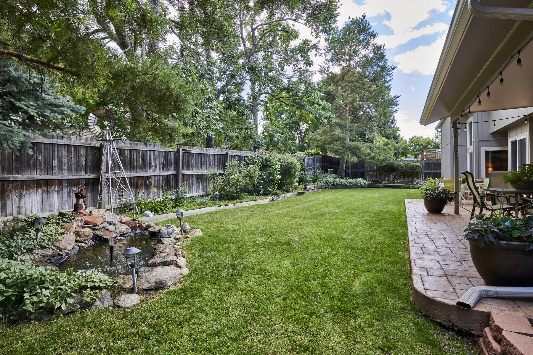 Backyard Water Feature at Left