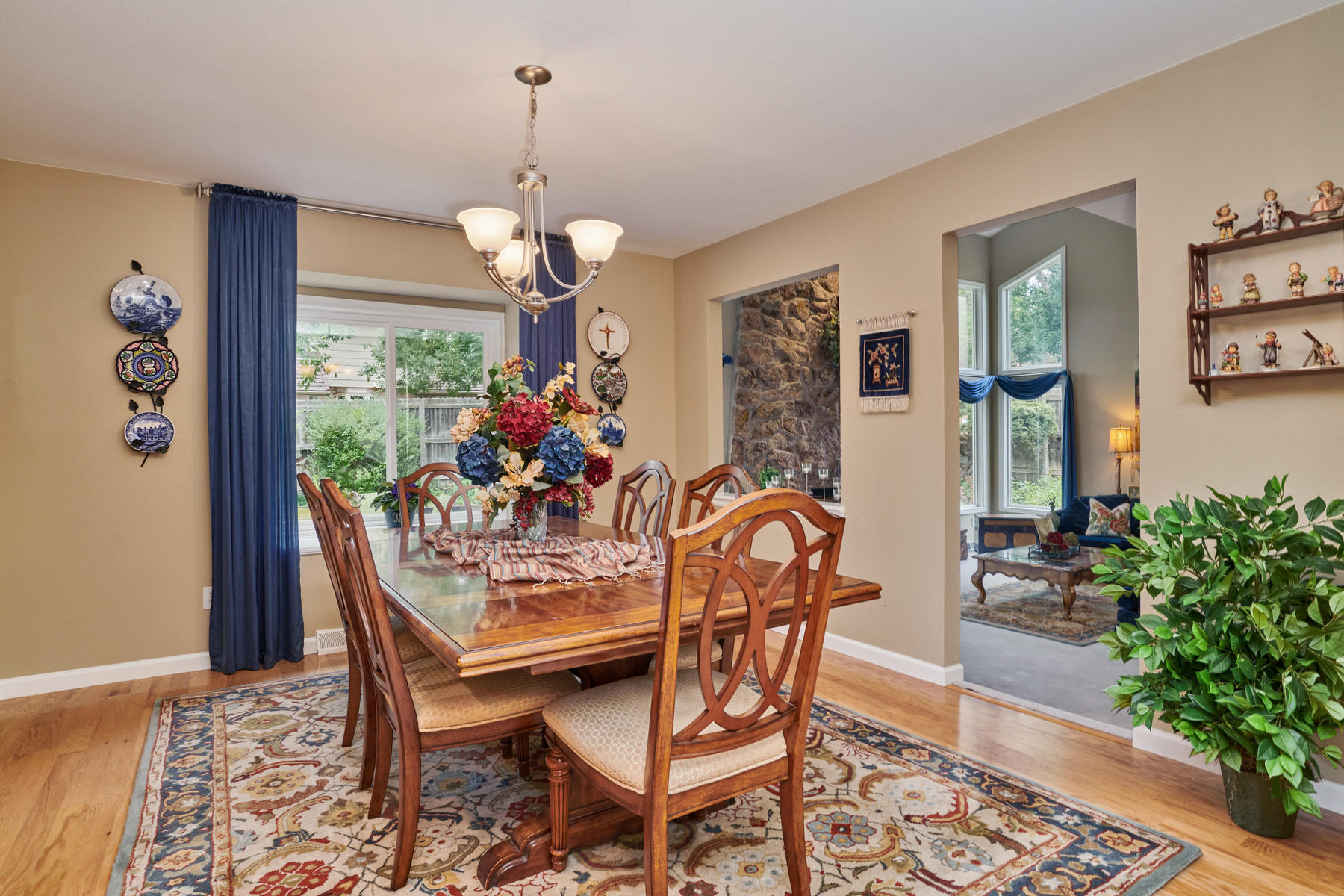 Dining Room to Living Room Views