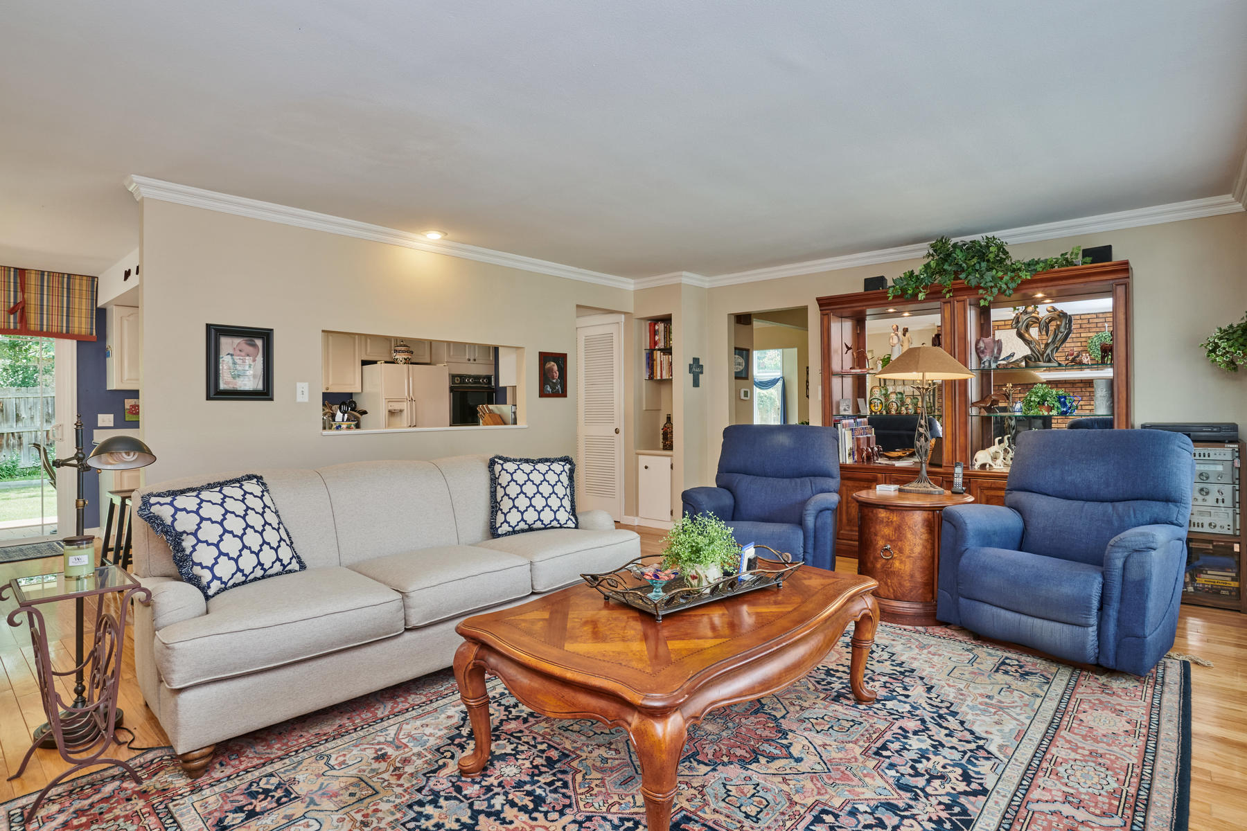 Family Room Has Pass Through Opening to Kitchen