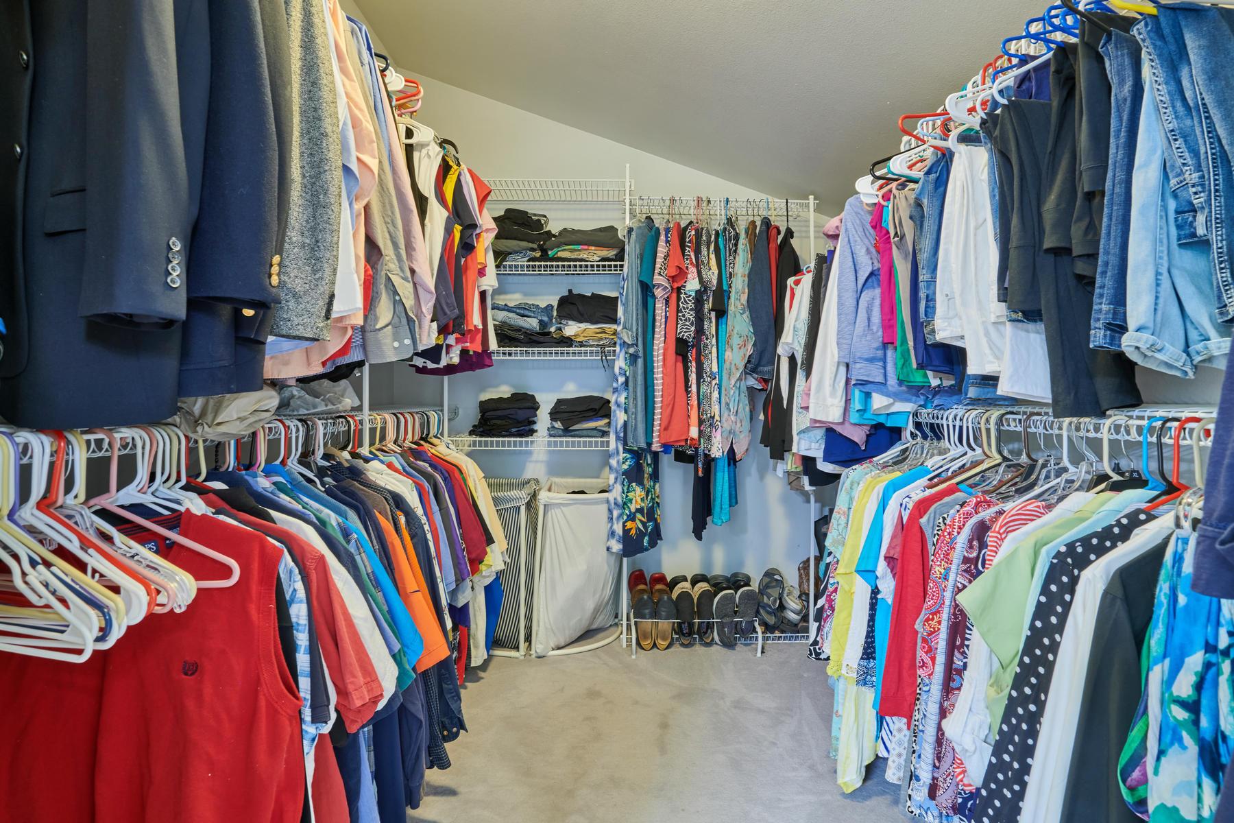 Extra Deep Walk-in Closet Adjoins Primary Bedroom