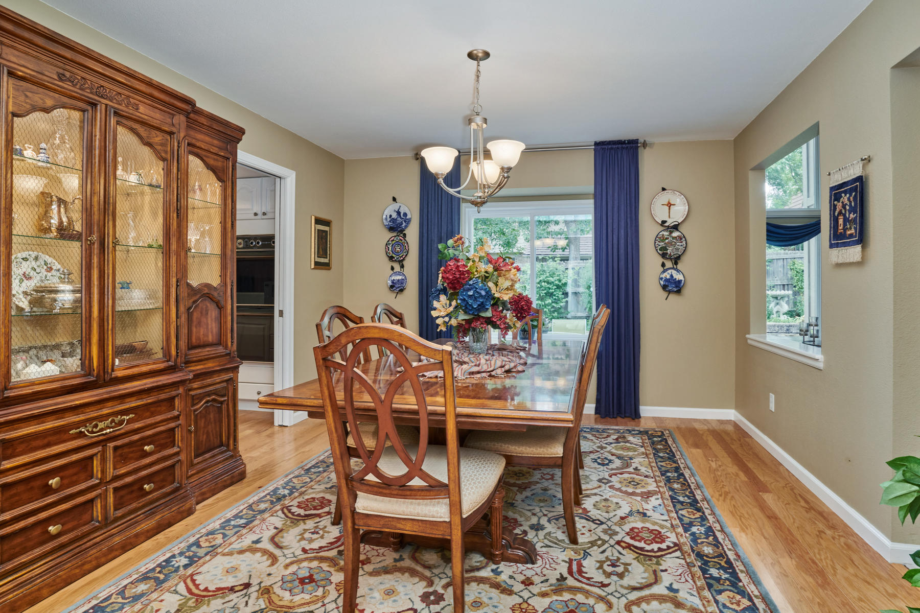 Large Formal Dining Room with Window Seat