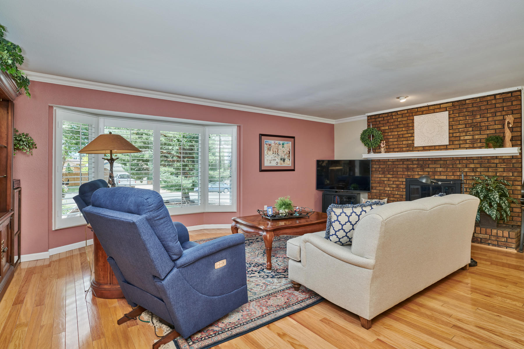 Huge Main Floor Family Room with Gas Fireplace