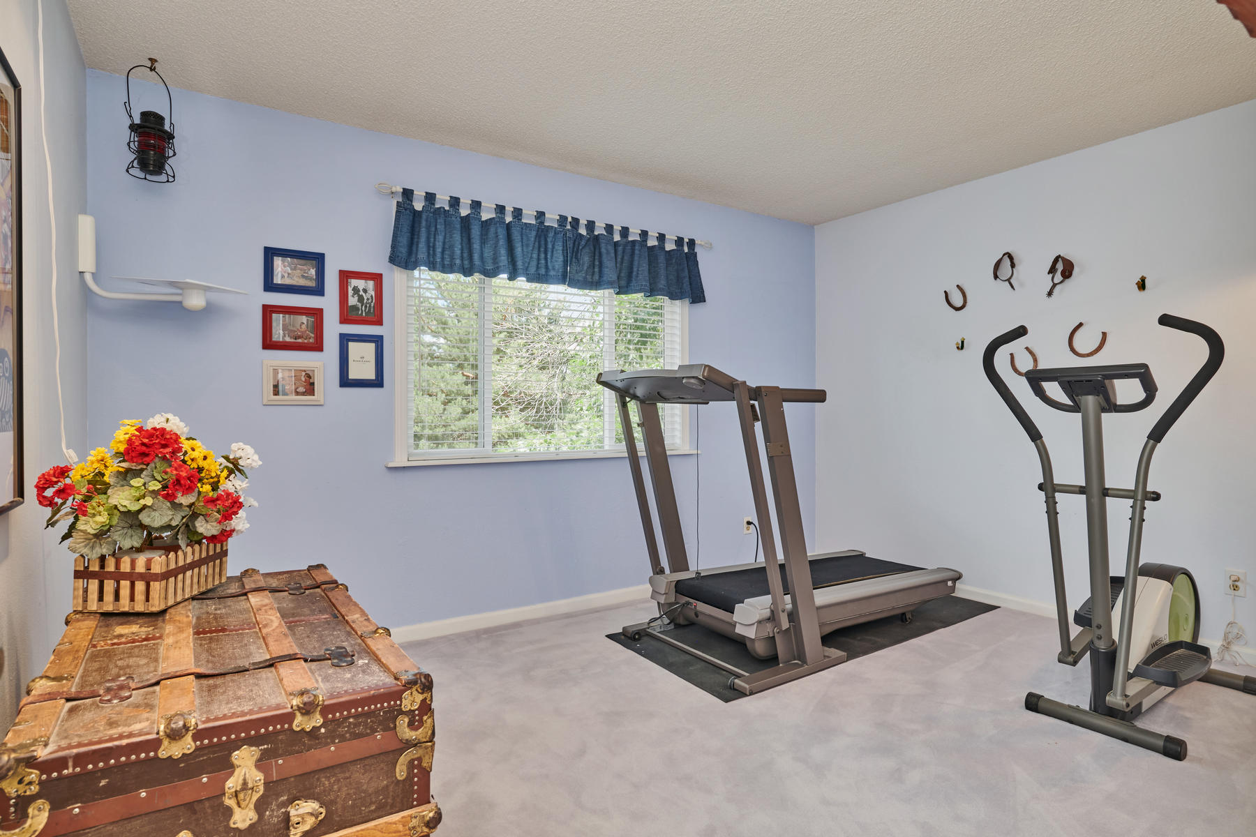 Bedroom #4 is Currently the Exercise Room