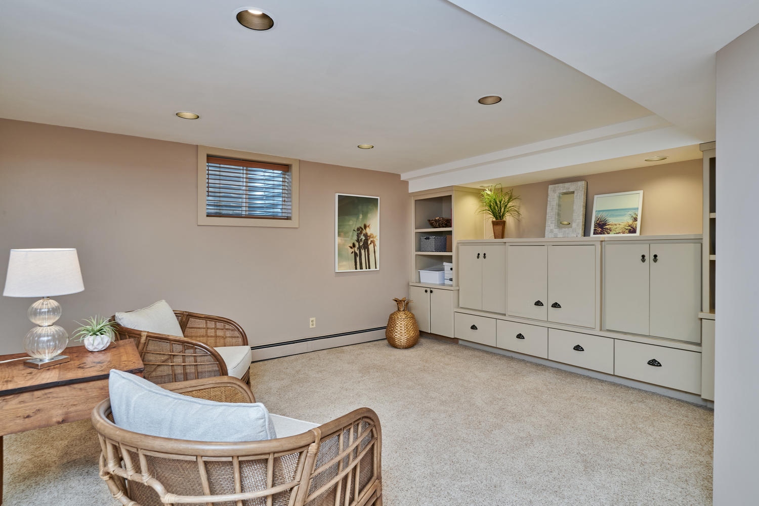 Spacious Rec Room in Lovely Finished Basement