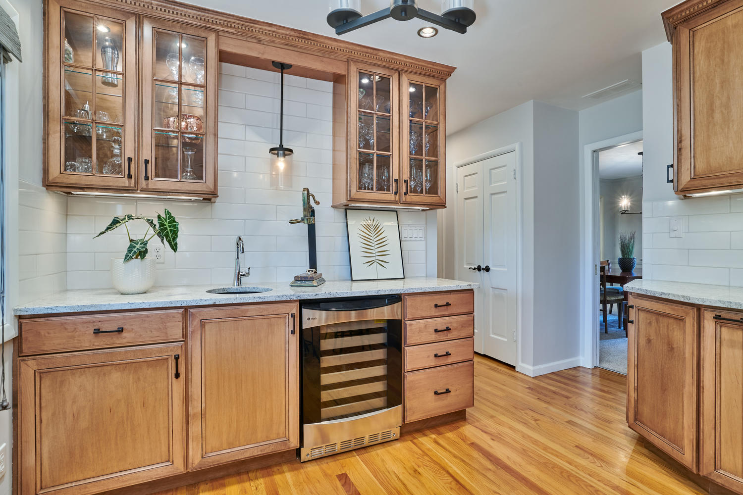 Butlers Pantry with Wet Bar & Wine Refrigerator