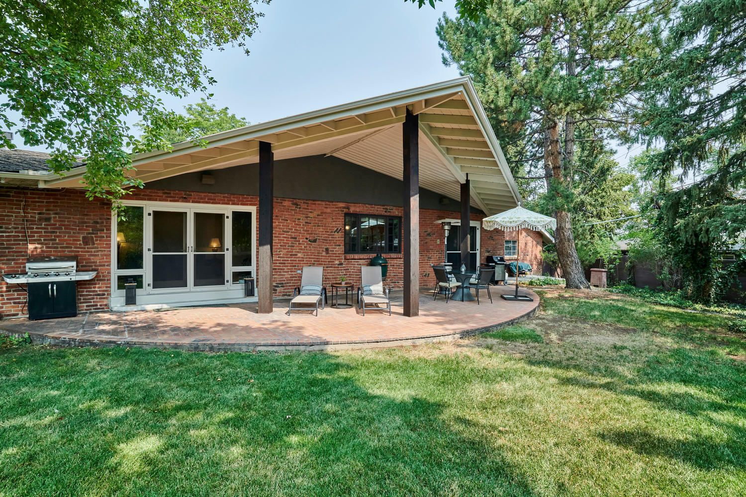 Enormous Covered Patio Measures 575 Sq. Ft.