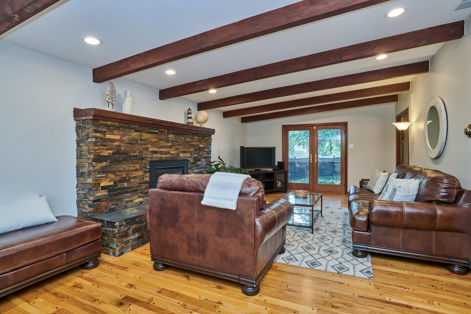 Family Room Also Opens to Covered Patio Area