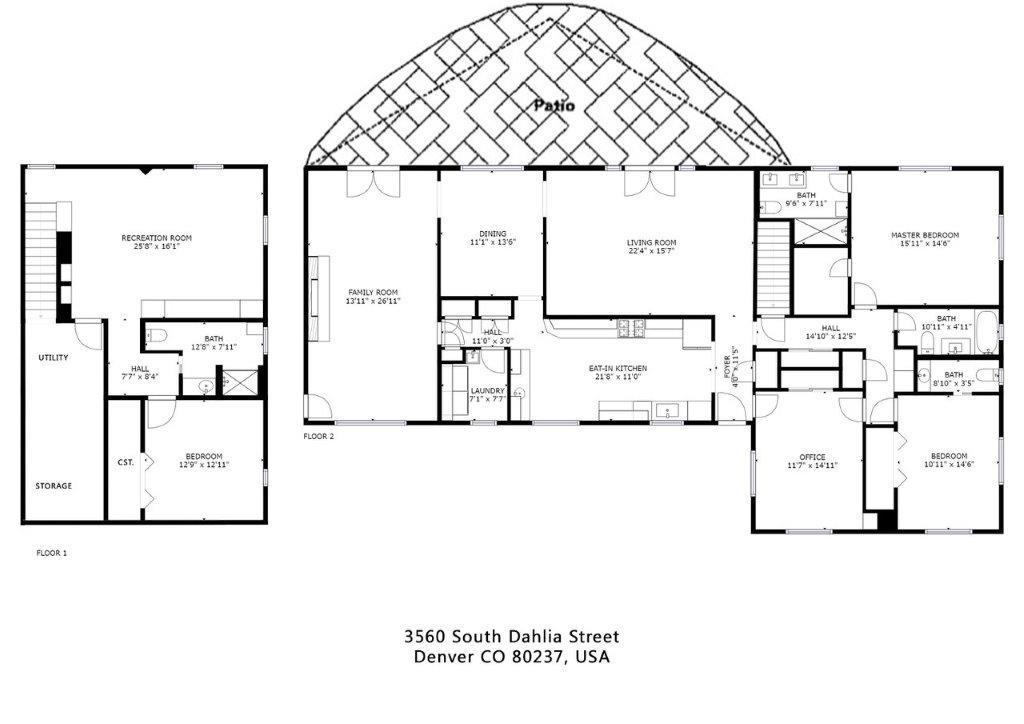 Home Floorplan  - Oversized Garage is Not Shown