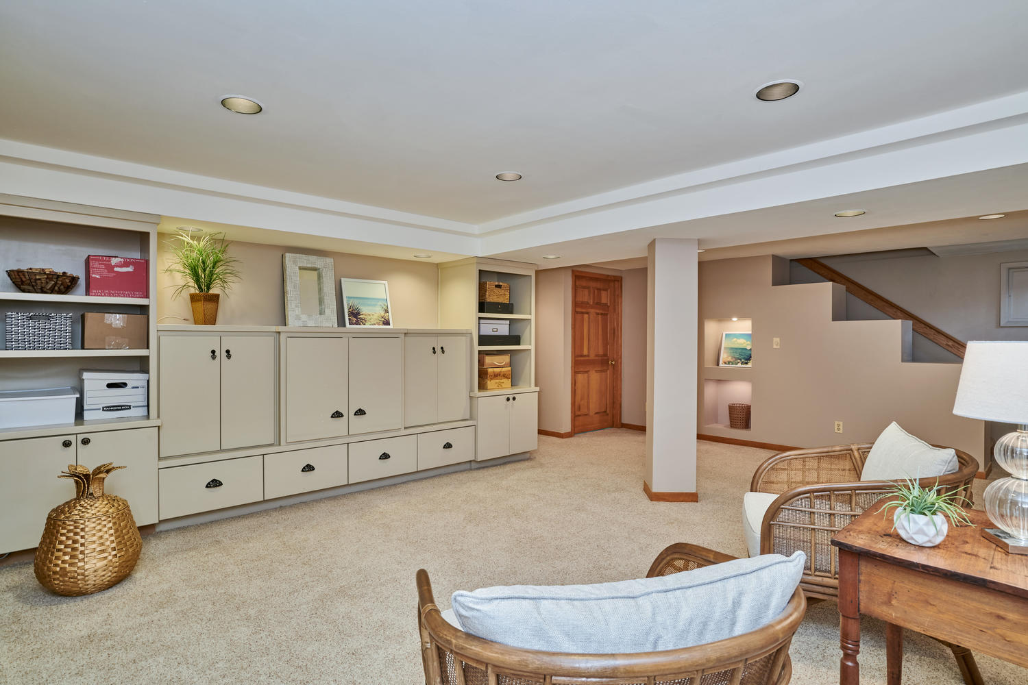 Neat Built-in Storage Options w/Large Storage Room