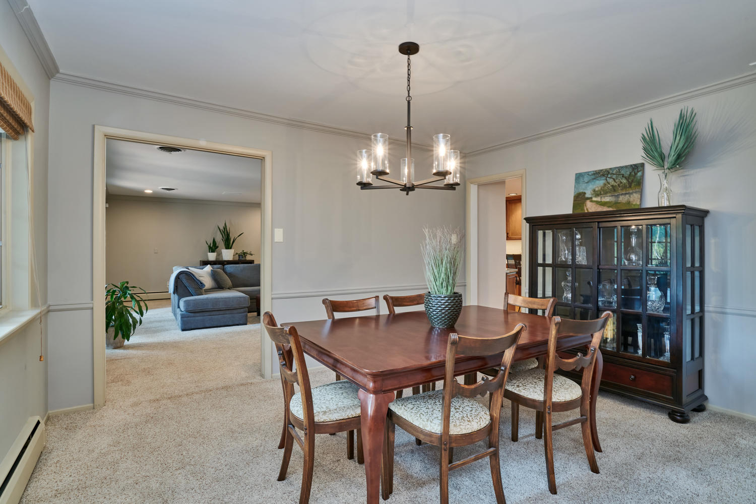 Dining Room Opens to Kitchen, Living & Family Room