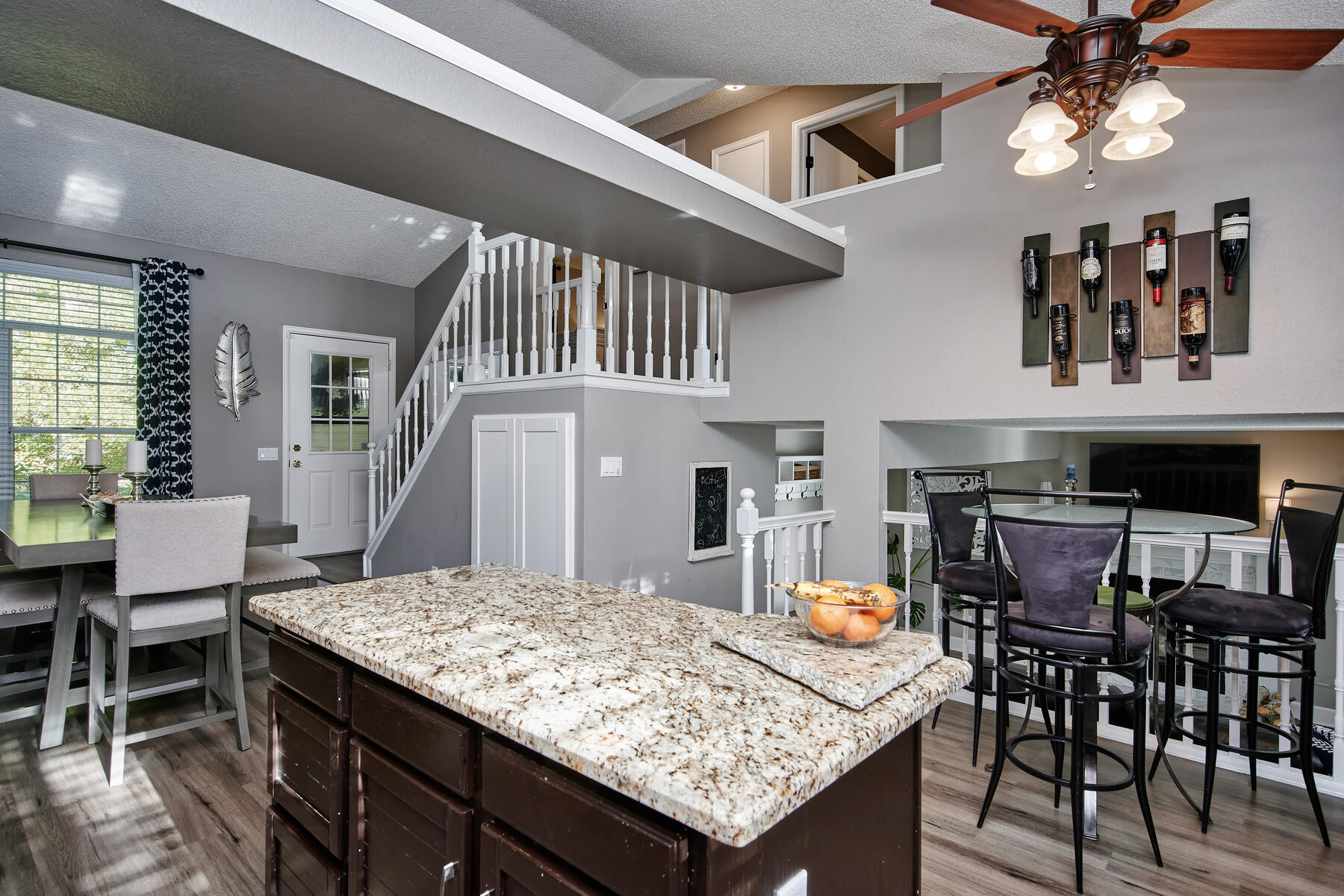 Nice Open Floorplan with Vaulted Ceilings