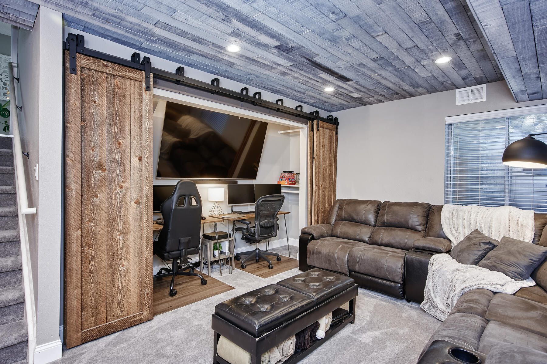 Currently Used as Home Office Space & TV Room