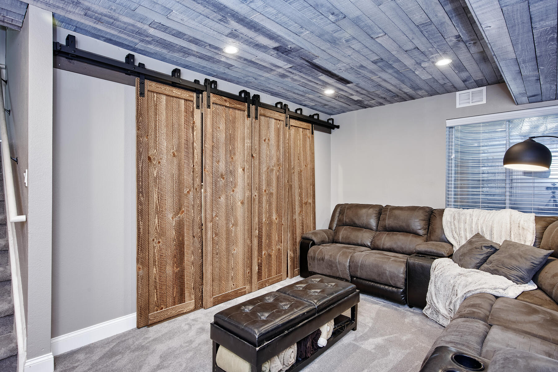 Sliding Barn Doors Cover Workspaces/Closet