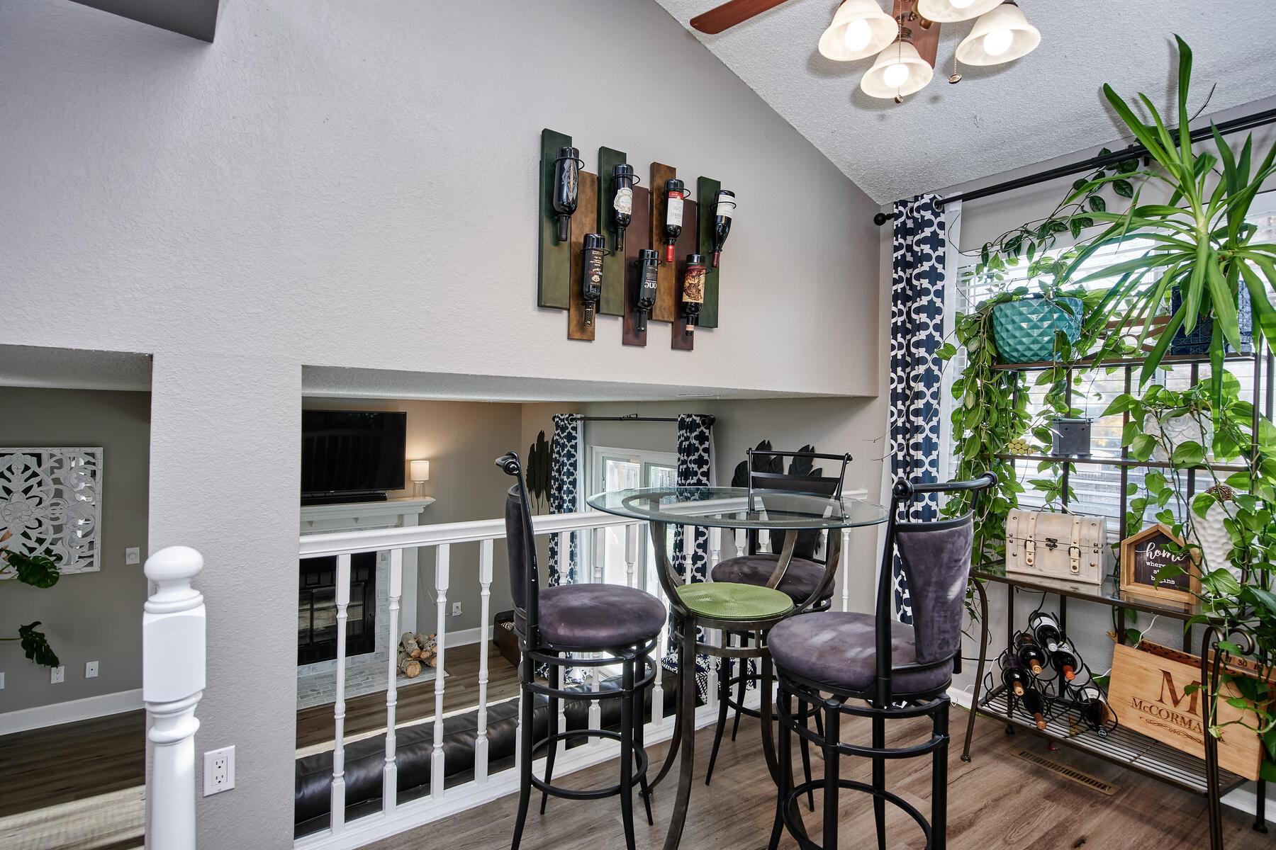 Kitchen Nook Overlooks Family Room