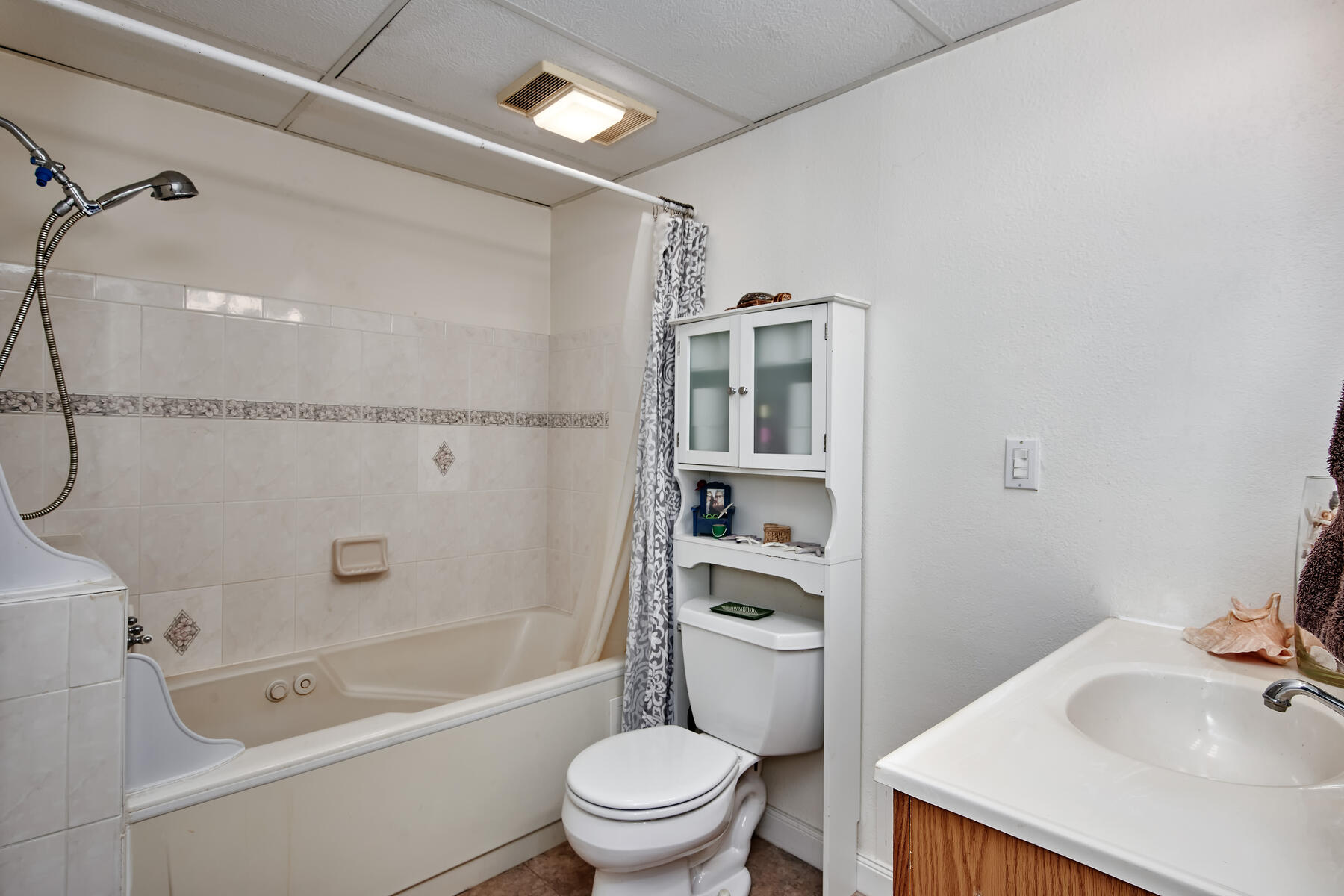 Jetted Soaking Tub with Shower in Lower Level