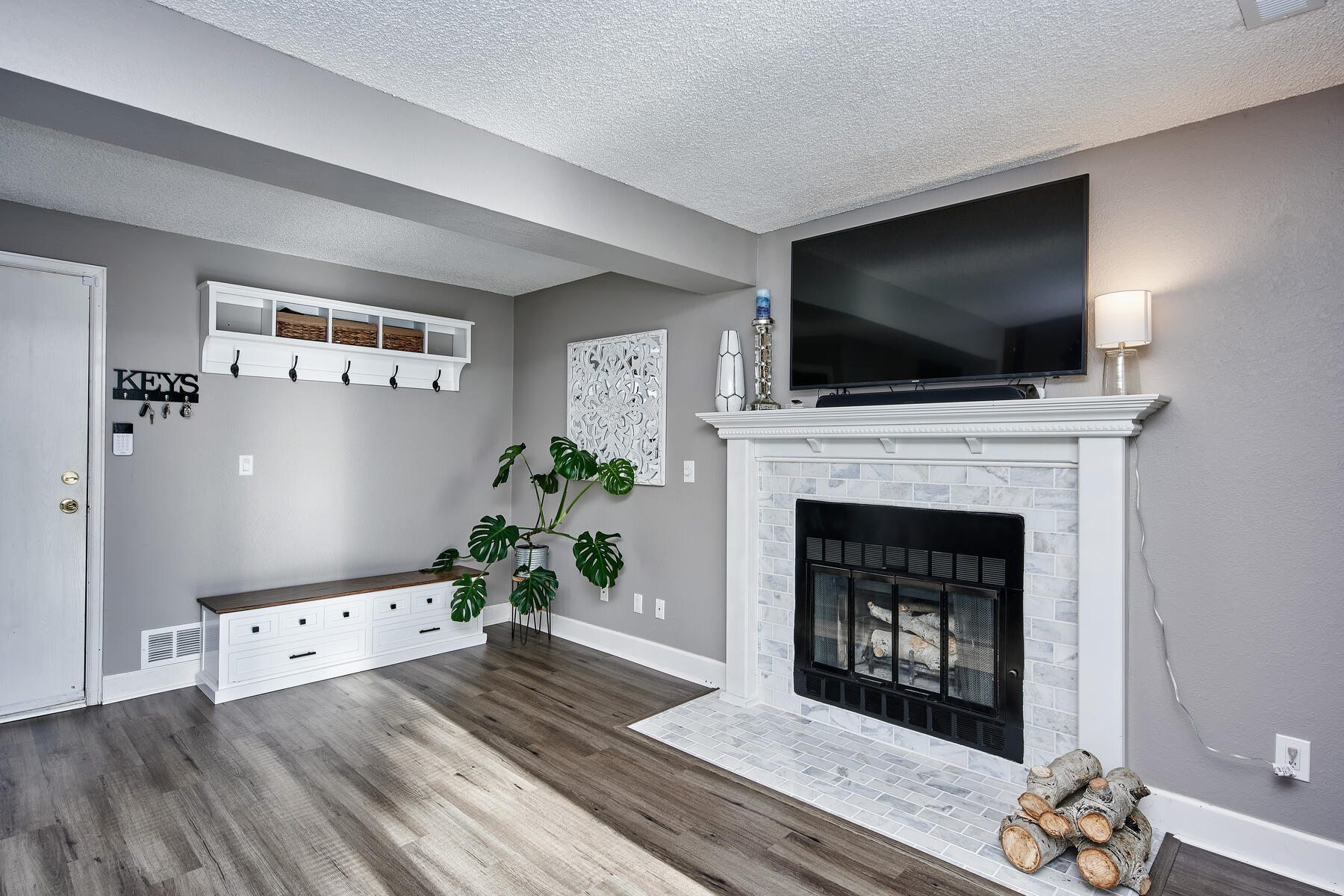 Fireplace & TV Mount in Family Room