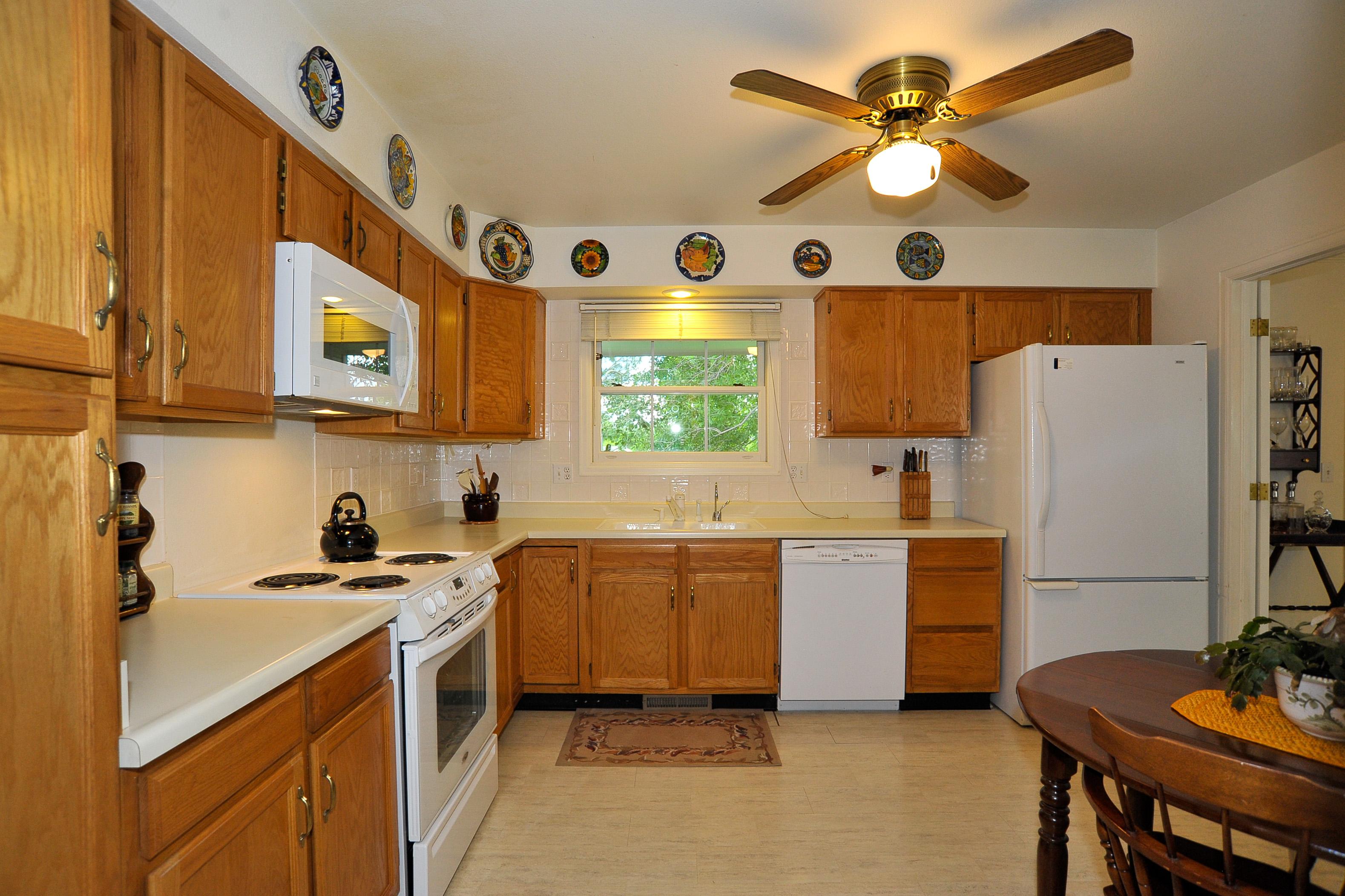 Large Tiled Kitchen with Abundant Cabinetry