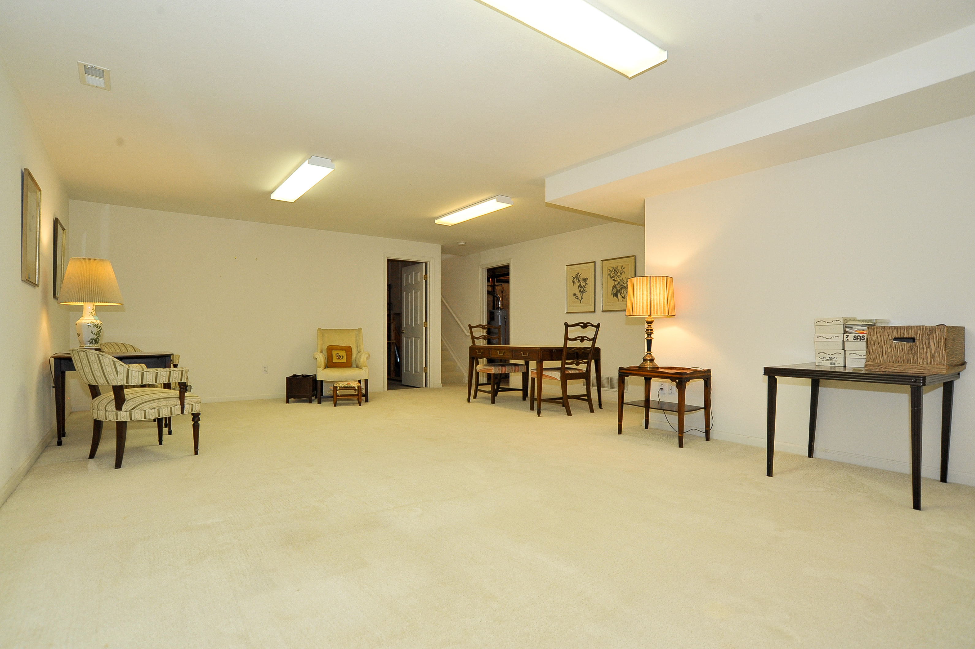 Large Finished Rec or Family Room in Basement