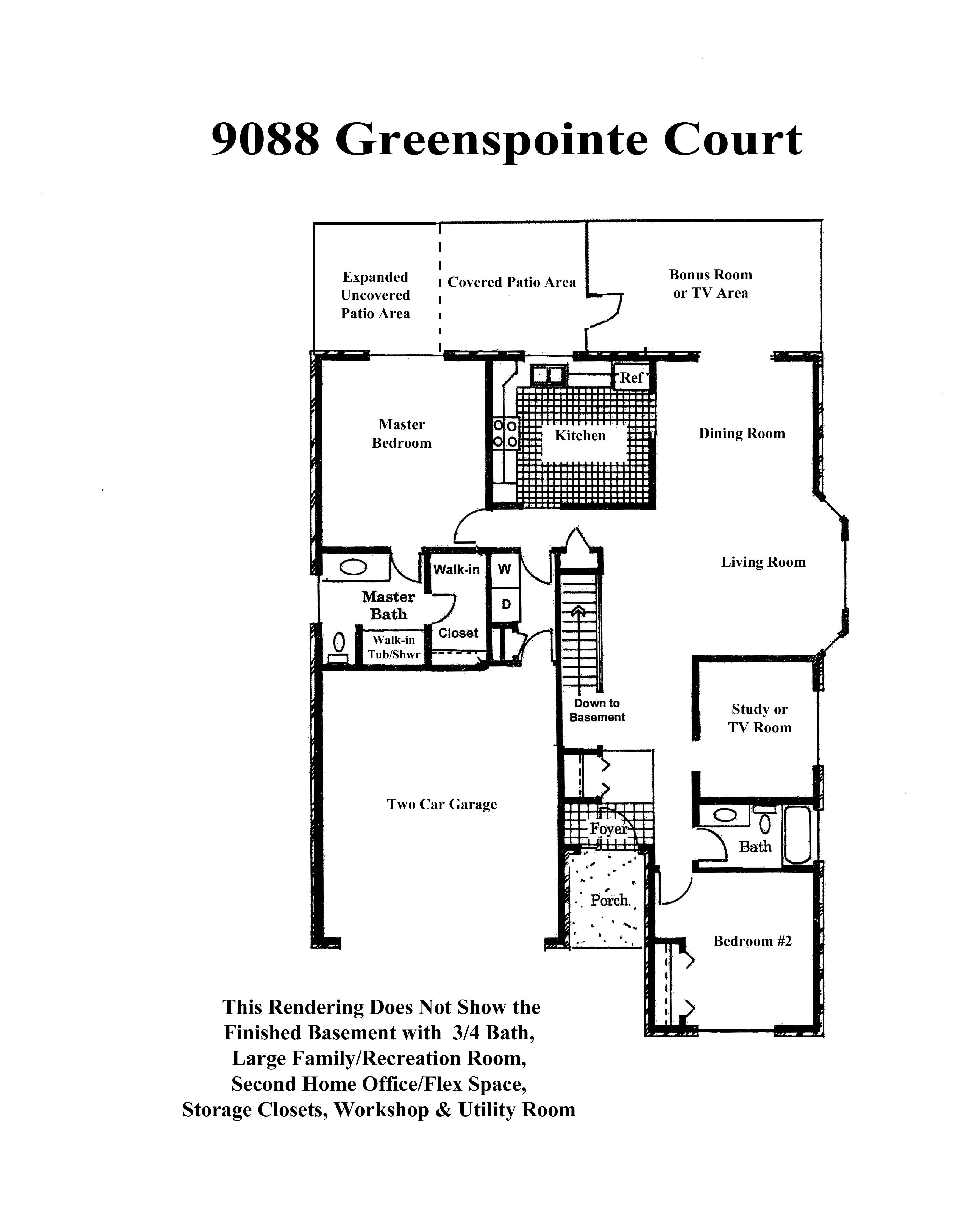 Rendering of Main Floor Living Areas