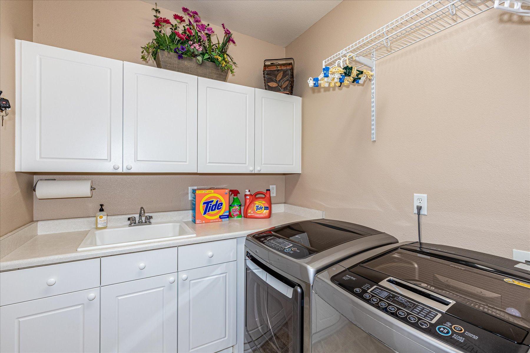 Main Floor Laundry Room with Storage