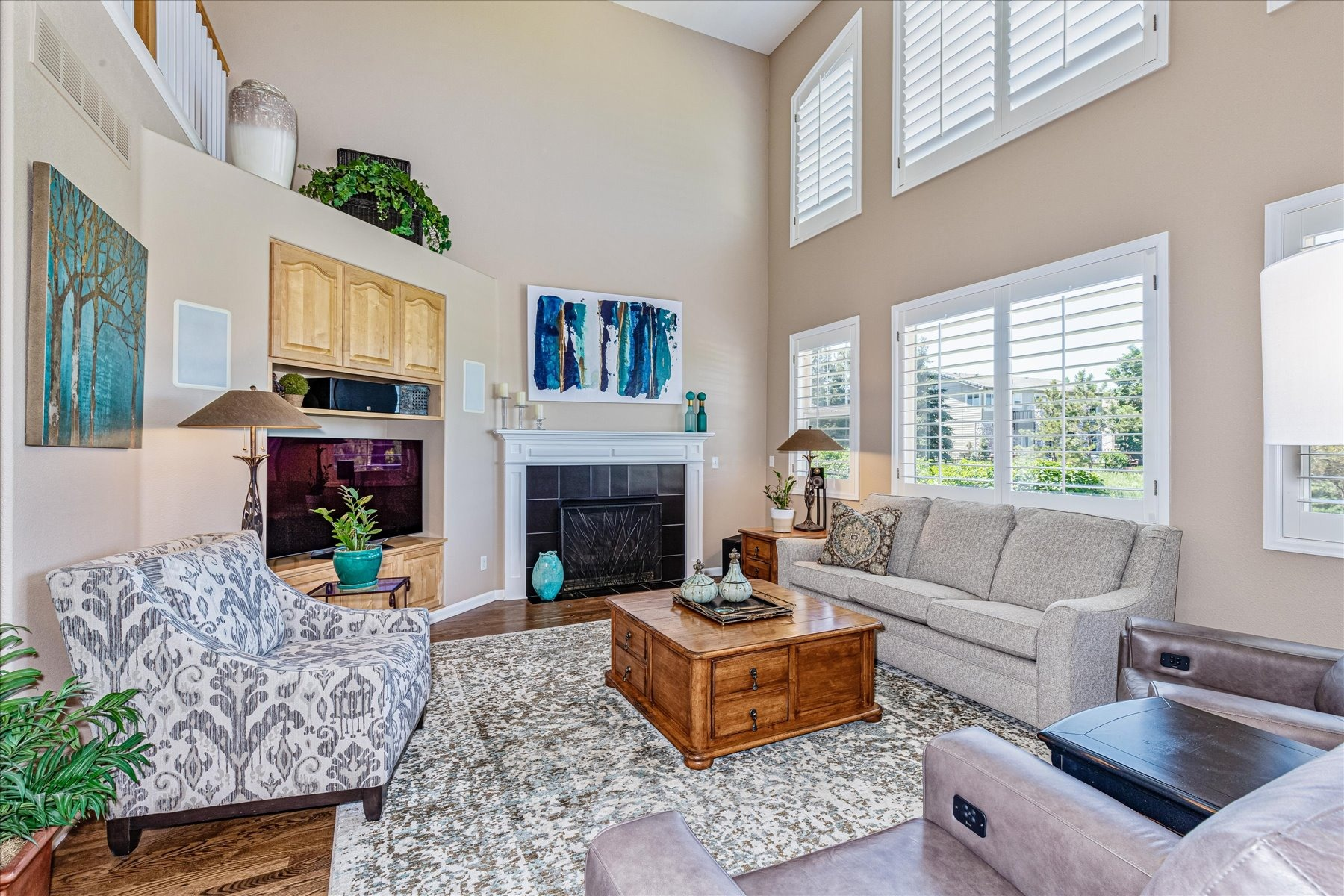 Great Golf Course Views from Open Family Room
