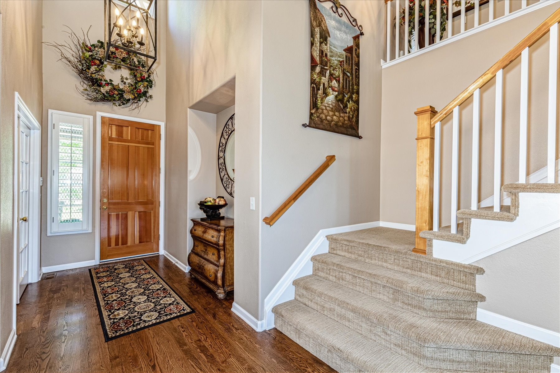 Spacious Two Story Entry Hall