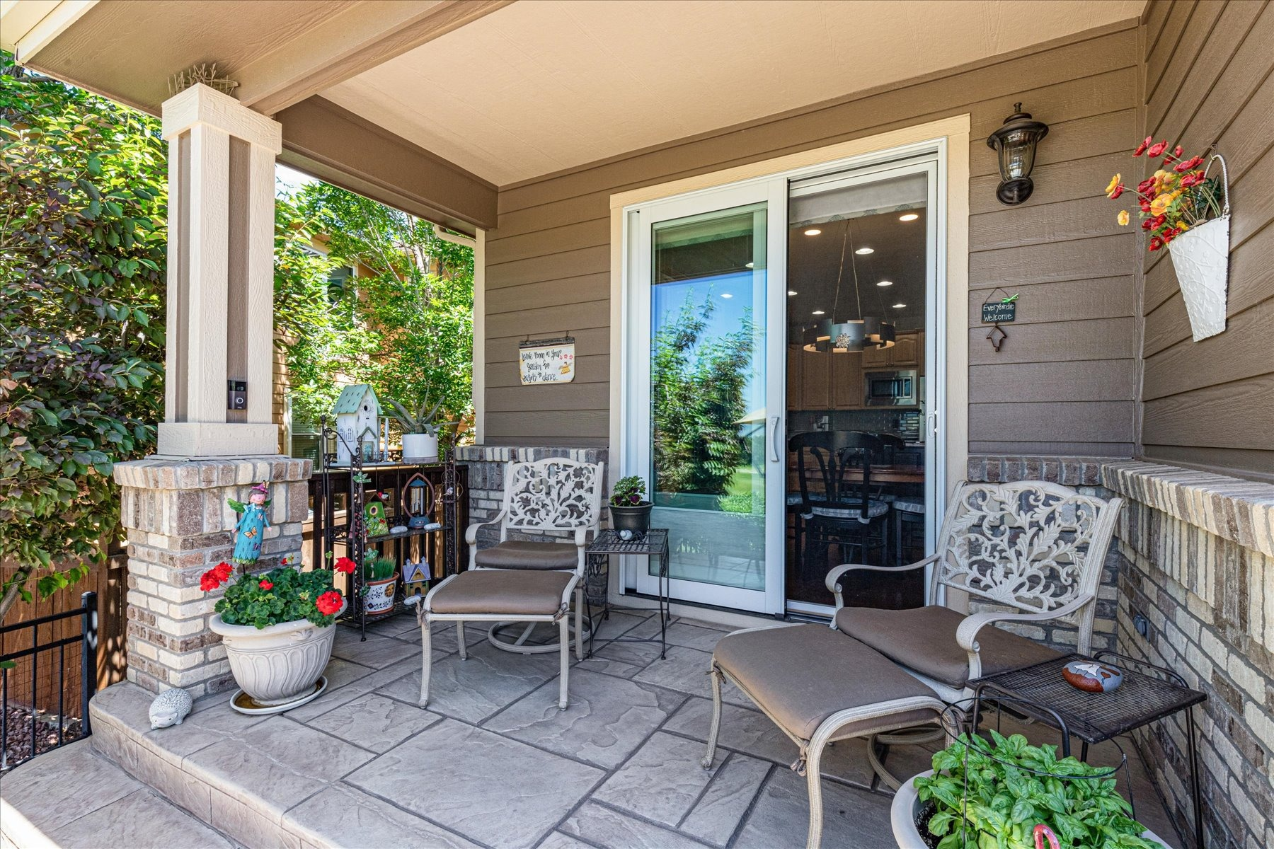 Covered Patio Area at Kitchen Door