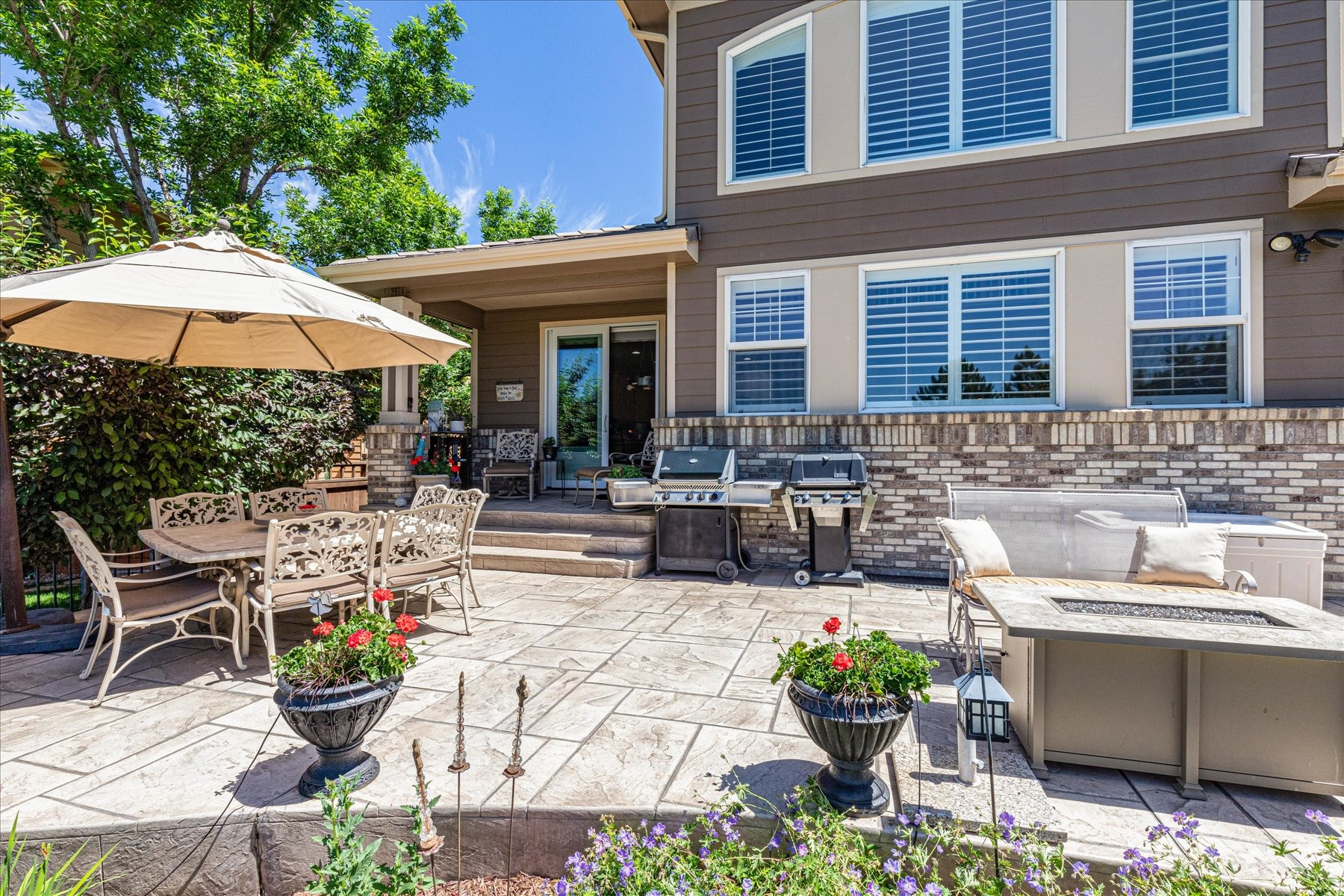 Expanded Stamped Patio for Great Entertaining Area