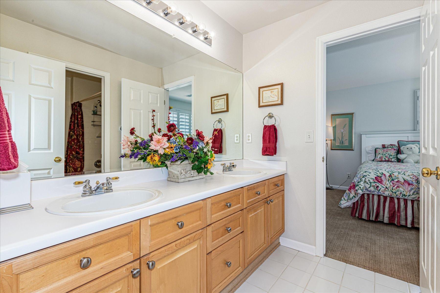 Dual Sinks in Jack & Jill Bath for Bedrooms 2 & 3